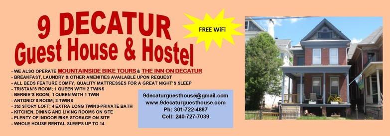 lodging, 9 Decatur Guest House & Hostel Cumberland, MD HOME